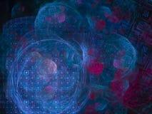 Digital abstract future ethereal fractal decoration , pattern , magic decorative, elegant texture. Digital abstract fractal, creative render design, magic royalty free illustration