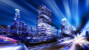 Digital abstract of Los Angeles royalty free stock images