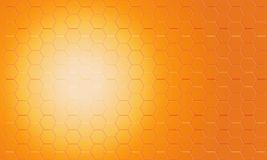 Digital abstract orange pentagon pattern background. Digital abstract orange pentagon background Royalty Free Stock Photography