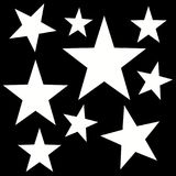 Digital abstract pattern with a five-pointed stars. Computer gtraphic - digital abstract pattern with a five-pointed stars in a black -= white colors royalty free illustration