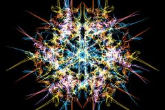 Digital abstract sacred geometric pattern design. royalty free stock photos