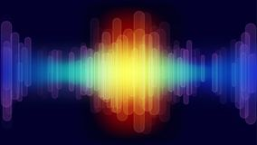 Digital abstract sound wave. Vector background Royalty Free Stock Photos