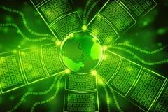 Digital background, futuristic background, business background. Digital Abstract technology background, Binary Background, futuristic background, cyberspace Royalty Free Stock Images