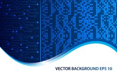 Digital Abstract technology background, futuristic background, Web Banner, Cover page design. vector illustration stock illustration