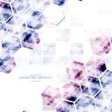 Digital abstrakt backgro för geometrisk teknologisk olik sexhörning Arkivbilder