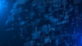 digital abstrakt bakgrund Innovativ forskning f?r vetenskaplig kemi teknologisk bakgrund matris bin?r kod Fallande prickar vektor illustrationer