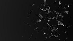 digital abstrakt bakgrund Kosmiska partiklar Effekten av plexusen Stor datavisualization framf?rande 3d vektor illustrationer