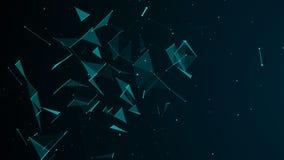 digital abstrakt bakgrund Kosmiska partiklar Effekten av plexusen Stor datavisualization framf?rande 3d stock illustrationer