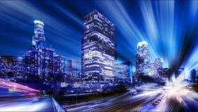 Digital abstrakt begrepp av Los Angeles Royaltyfria Bilder