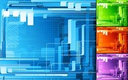 digital abstrakt design stock illustrationer