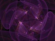 Digital abstrakt fractal, idérik rörelse att framföra eteriskt räkningssken, vibrerande magiskt dekorativt som är elegant stock illustrationer