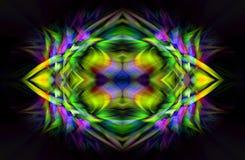 digital abstrakt konst Futuristisk fractalvärldsillusration stock illustrationer