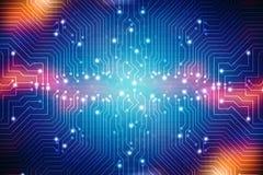 Digital abstrakt teknologibakgrund, bakgrund för strömkretsbräde stock illustrationer