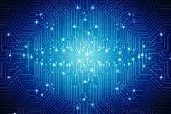 Digital abstrakt teknologibakgrund, bakgrund för strömkretsbräde Arkivbild