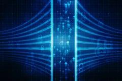Digital abstrakt teknologibakgrund, binär bakgrund, futuristisk bakgrund, cyberspacebegrepp stock illustrationer