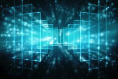 Digital abstrakt teknologibakgrund, binär bakgrund, futuristisk bakgrund, cyberspacebegrepp vektor illustrationer