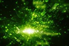 Digital abstrakt teknologibakgrund, cyberutrymmebakgrund, futuristisk bakgrund royaltyfri illustrationer