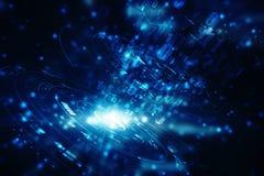 Digital abstrakt teknologibakgrund, futuristisk bakgrund Arkivbilder