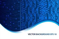 Digital abstrakt teknologibakgrund, futuristisk bakgrund, rengöringsdukbaner, design för räkningssida också vektor för coreldrawi stock illustrationer