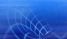 Digital-abstrakter blauer Hintergrund Stockbilder
