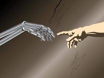 digital adam skapelse vektor illustrationer