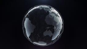 Digital affärsidé för rörelsepartikeljord stock video