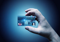 Digital affärskort Arkivfoto