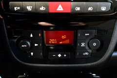 Digital air condition dashboard Stock Photos