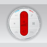 Digital air conditioning control panel in white Royalty Free Stock Photography