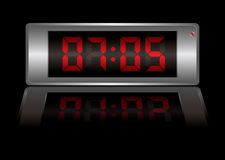 Digital alarm clock Royalty Free Stock Photography