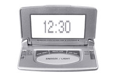 Digital Alarm Clock Stock Photo