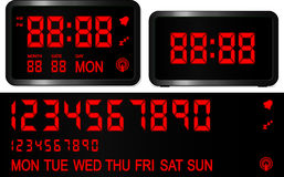 Digital alarm clock Royalty Free Stock Photos