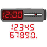 Digital alarm clock Stock Image