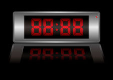 Digital alarm clock any Stock Image
