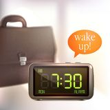 Digital alarm clock background Stock Photography