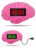 Digital alarm clock brain with usb cable plug Royalty Free Stock Images