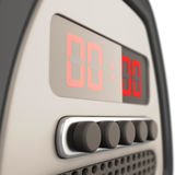 Digital alarm clock close-up. 3d. Royalty Free Stock Photo