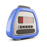 Digital alarm clock. 3d. Royalty Free Stock Images