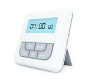 Digital Alarm Clock with LCD Display Royalty Free Stock Photography
