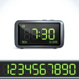 Digital alarm clock numbers Stock Images