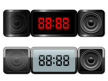 Digital alarm clock with speakers Stock Image
