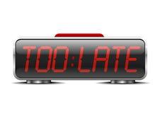 Digital alarm clock too late Stock Photography