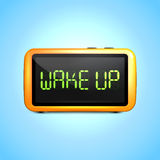 Digital alarm clock wake up Stock Images
