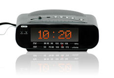 Digital alarm radio clock Stock Images