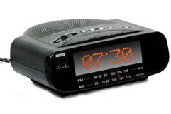 Digital Alarm radio clock Royalty Free Stock Image