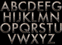 Digital alfabet Diva Style Scrapbooking Element Arkivbild