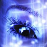 Digital Alien Visualization. Digital female Alien Face Visualization Stock Image