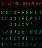 Digital-Alphabet Lizenzfreies Stockfoto