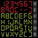 Digital alphabet Stock Photos
