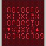Digital alphabet Stock Images